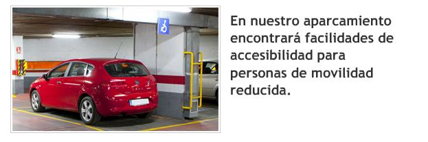 Facilidades de Accesibilidad - Aparcamiento de Villacerrada - Albacete